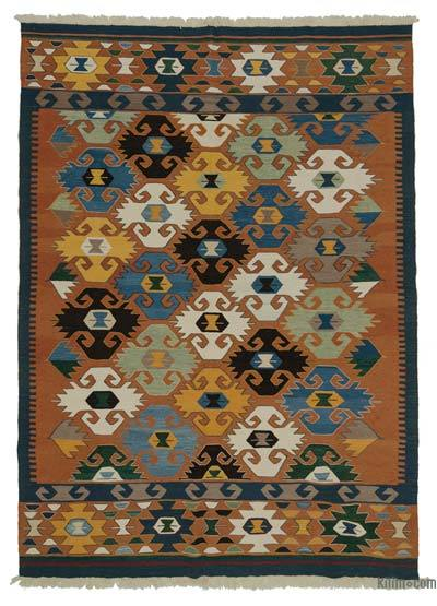 "New Handwoven Turkish Kilim Rug - 6' 8"" x 9' 5"" (80 in. x 113 in.)"
