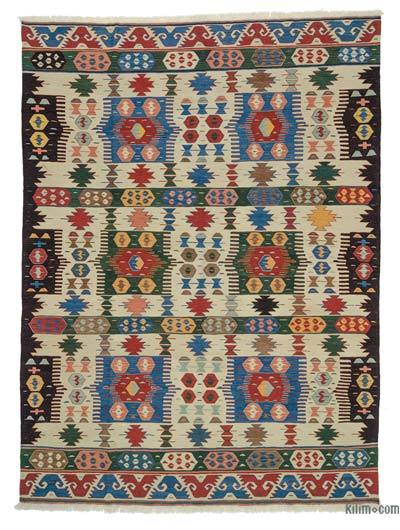 "New Handwoven Turkish Kilim Rug - 8' 8"" x 11' 7"" (104 in. x 139 in.)"
