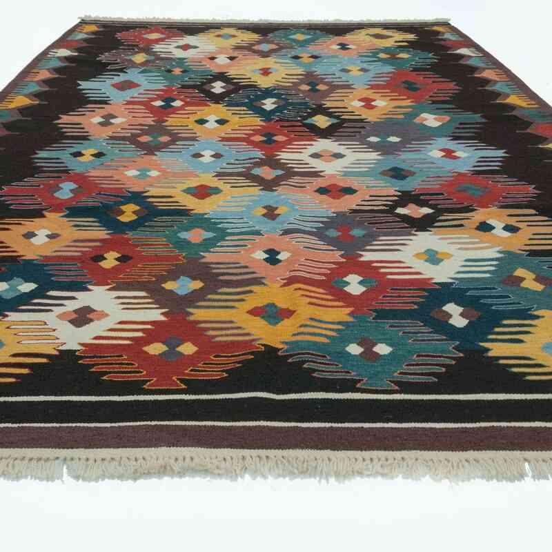Çok Renkli Yeni Kök Boya El Dokuma Kilim - 202 cm x 300 cm - K0028224