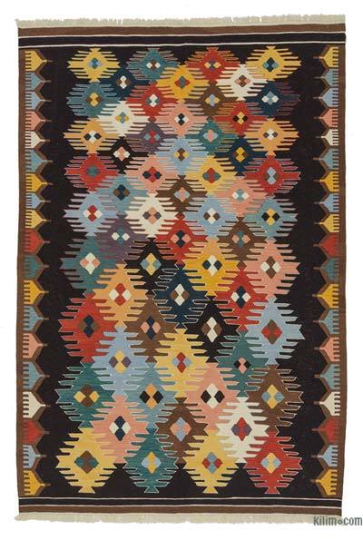 "New Handwoven Turkish Kilim Rug - 6'8"" x 9'10"" (80 in. x 118 in.)"