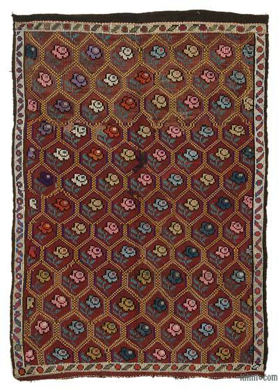 "Vintage Turkish 'Zili' Rug - 6' 4"" x 8' 10"" (76 in. x 106 in.)"
