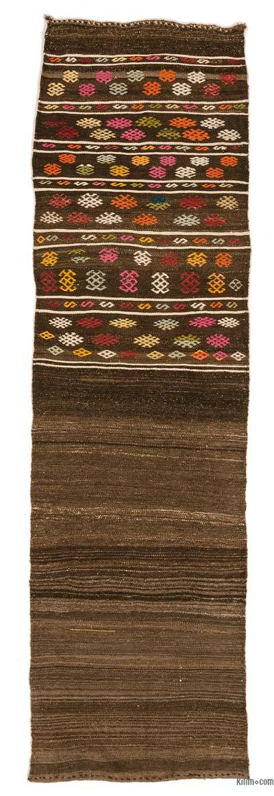 "Vintage Turkish Kilim Runner - 2' 2"" x 7' 7"" (26 in. x 91 in.)"