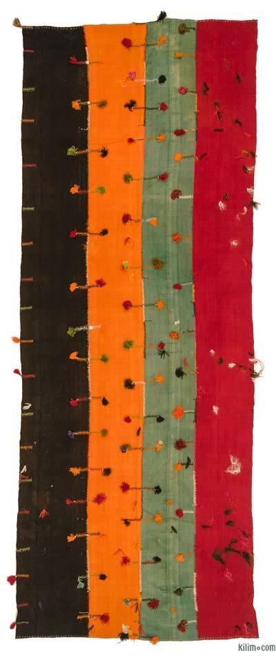 "Multicolor Vintage Malatya Perde - 4' 11"" x 13' 5"" (59 in. x 161 in.)"