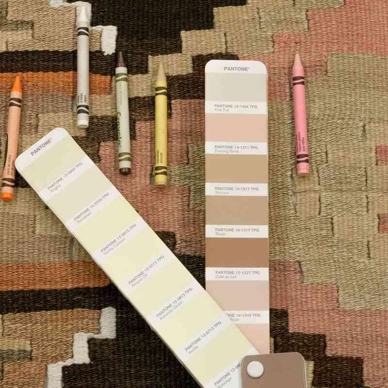"""Multicolor Vintage Puturge Kilim Runner - 2' 9"""" x 13'  (33 in. x 156 in.) - K0028292"""