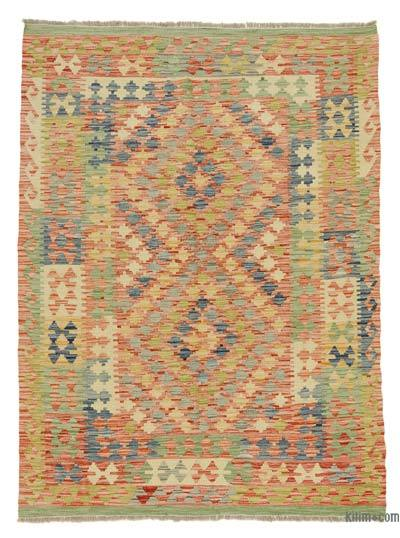 "New Afghan Kilim Rug - 5' x 6'7"" (60 in. x 79 in.)"