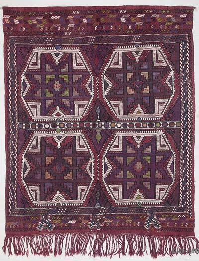 """Vintage Konya Jijim Rug - 4' 3"""" x 5' 4"""" (51 in. x 64 in.)"""