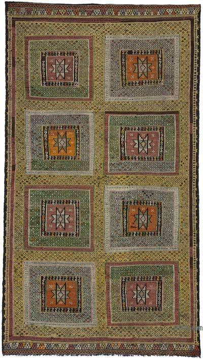 """Vintage Antalya """"Zili"""" Kilim - 150 cm x 270 cm"""