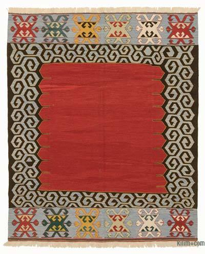 "New Handwoven Turkish Kilim Rug - 6' 9"" x 8' 1"" (81 in. x 97 in.)"