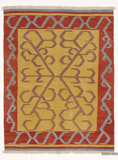 "New Handwoven Turkish Kilim Rug - 5'  x 6' 4"" (60 in. x 76 in.)"