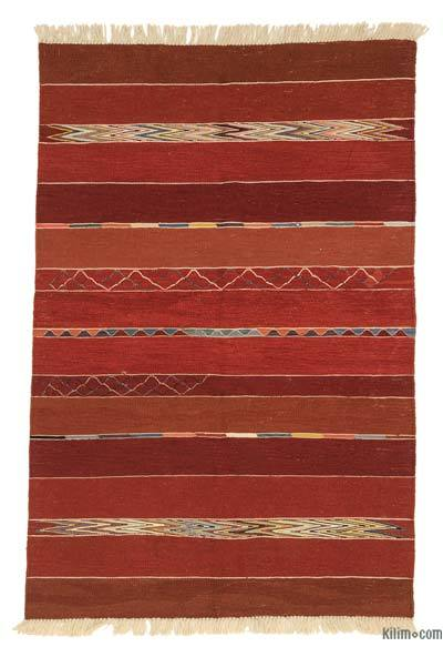 "New Handwoven Turkish Kilim Rug - 3' 11"" x 5' 11"" (47 in. x 71 in.)"