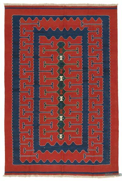 "New Handwoven Turkish Kilim Rug - 7' 6"" x 10' 11"" (90 in. x 131 in.)"