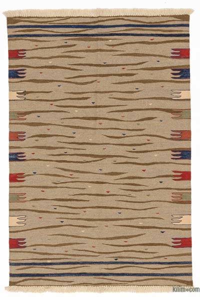"New Handwoven Turkish Kilim Rug - 3' 7"" x 5' 4"" (43 in. x 64 in.)"