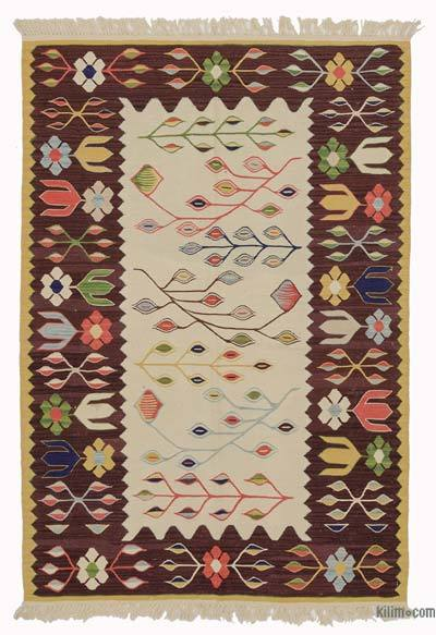 "New Handwoven Turkish Kilim Rug - 3'3"" x 4'9"" (39 in. x 57 in.)"