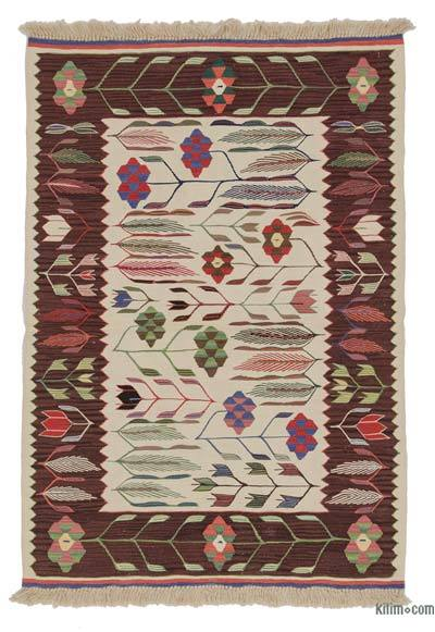 "New Handwoven Turkish Kilim Rug - 2' 11"" x 4' 3"" (35 in. x 51 in.)"