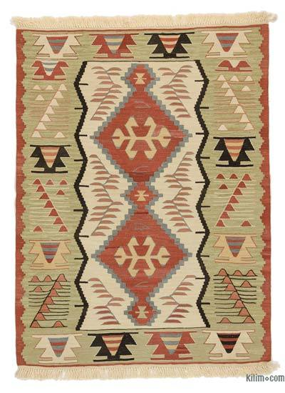 "New Handwoven Turkish Kilim Rug - 3' 2"" x 4' 4"" (38 in. x 52 in.)"