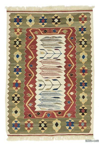 "New Handwoven Turkish Kilim Rug - 2' 10"" x 4' 1"" (34 in. x 49 in.)"