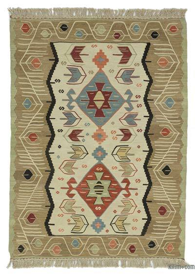 "New Handwoven Turkish Kilim Rug - 3' 3"" x 4' 5"" (39 in. x 53 in.)"