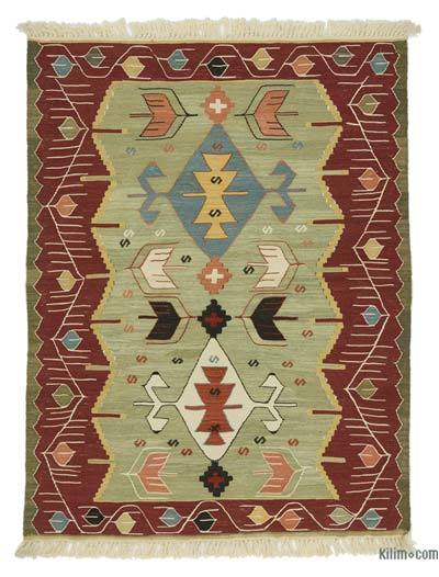 "New Handwoven Turkish Kilim Rug - 3' 3"" x 4' 3"" (39 in. x 51 in.)"