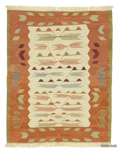 "New Handwoven Turkish Kilim Rug - 3' 6"" x 4' 4"" (42 in. x 52 in.)"