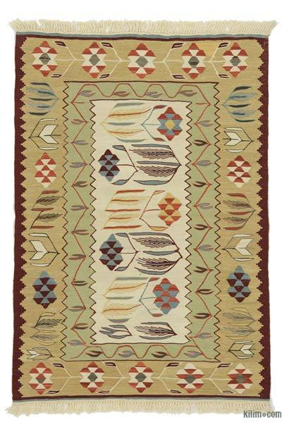 "New Handwoven Turkish Kilim Rug - 2'10"" x 4'2"" (34 in. x 50 in.)"