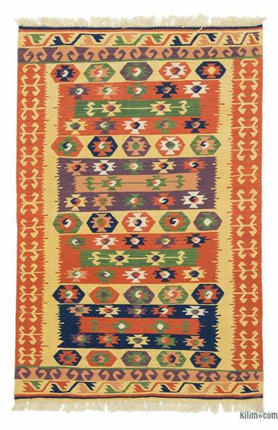 "New Handwoven Turkish Kilim Rug - 2' 11"" x 4' 6"" (35 in. x 54 in.)"