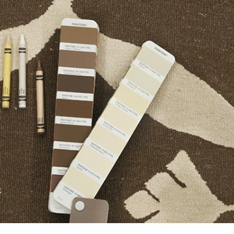 "Brown, Beige New Handwoven Turkish Kilim Rug - 3' 1"" x 4' 11"" (37 in. x 59 in.) - K0028408"
