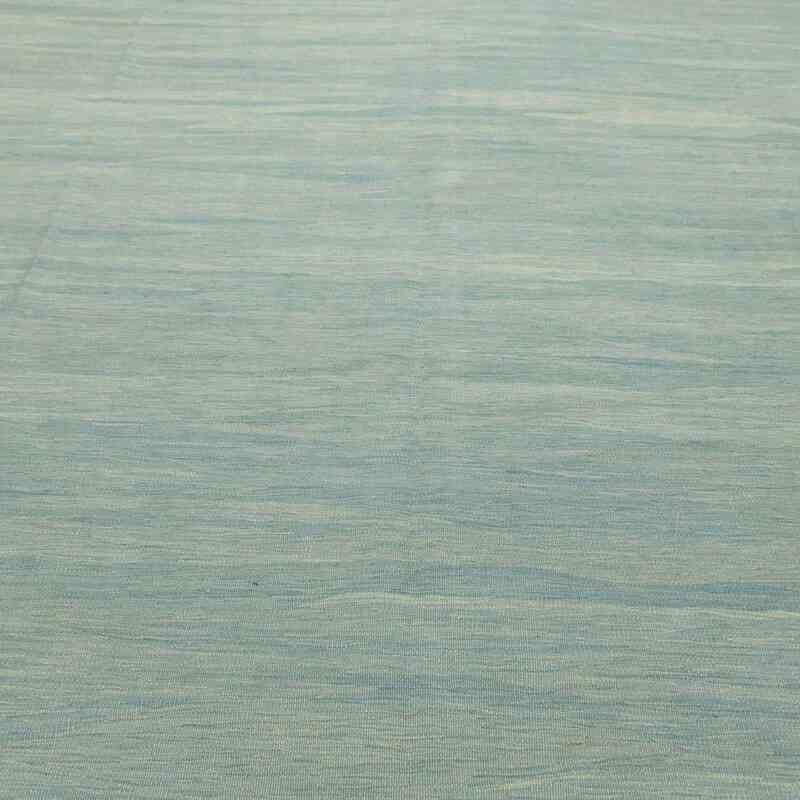 Açık Mavi Yeni Kök Boya El Dokuma Kilim - K0028415