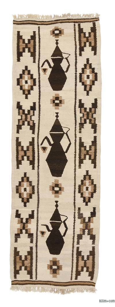 "Vintage Turkish Kilim Runner - 2' 11"" x 8' 11"" (35 in. x 107 in.)"