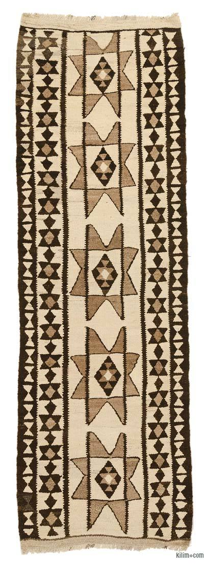 "Vintage Turkish Kilim Runner - 3' 1"" x 9' 4"" (37 in. x 112 in.)"