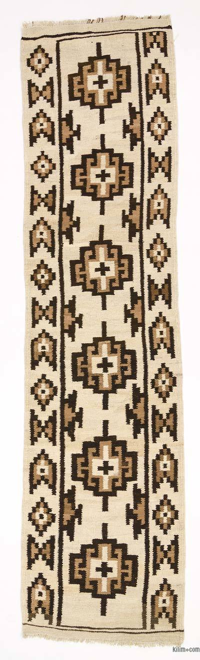 "Vintage Turkish Kilim Runner - 3'  x 11' 6"" (36 in. x 138 in.)"