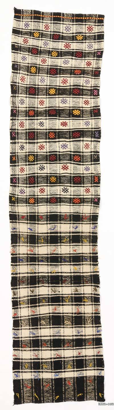 "Vintage Turkish Flatweave Runner - 2' 2"" x 9' 3"" (26 in. x 111 in.)"