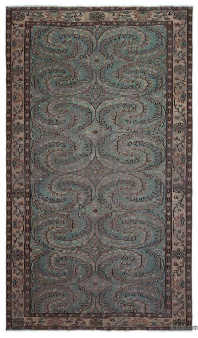 """Turkish Vintage Area Rug - 5'1"""" x 8'10"""" (61 in. x 106 in.)"""
