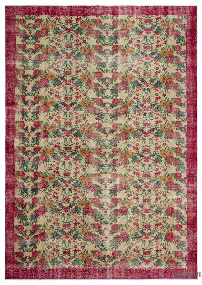 """Turkish Vintage Area Rug - 7' 5"""" x 10' 4"""" (89 in. x 124 in.)"""