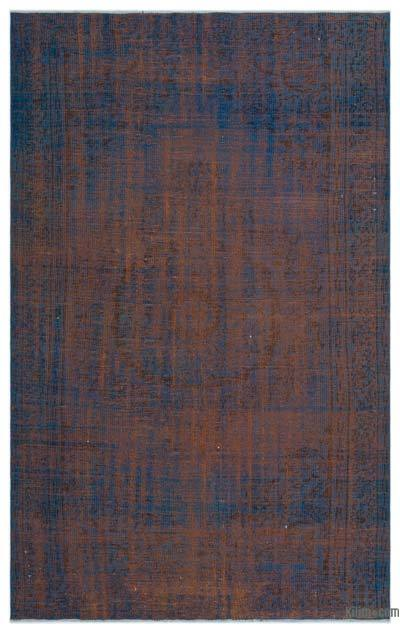 """Over-dyed Turkish Vintage Rug - 5' 1"""" x 7' 11"""" (61 in. x 95 in.)"""