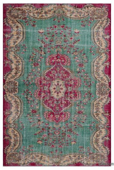 """Turkish Vintage Area Rug - 6'1"""" x 9'2"""" (73 in. x 110 in.)"""