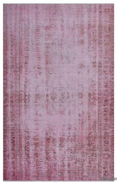 "Over-dyed Turkish Vintage Rug - 5'8"" x 9'3"" (68 in. x 111 in.)"