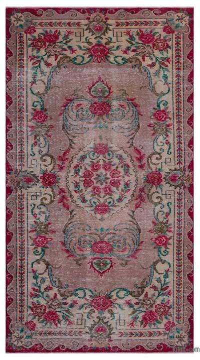 "Turkish Vintage Area Rug - 5'3"" x 9'7"" (63 in. x 115 in.)"