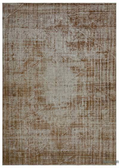 """Over-dyed Turkish Vintage Rug - 6' 8"""" x 9' 1"""" (80 in. x 109 in.)"""
