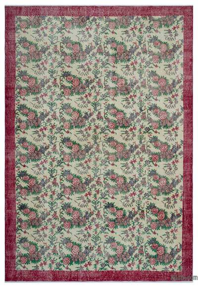 """Turkish Vintage Area Rug - 7'4"""" x 10'7"""" (88 in. x 127 in.)"""