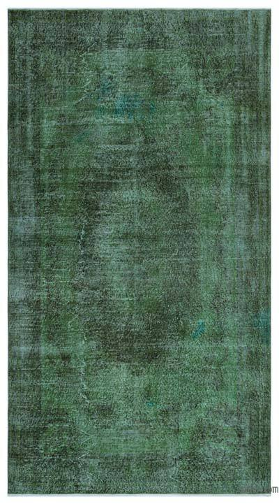 """Over-dyed Turkish Vintage Rug - 5'1"""" x 9'4"""" (61 in. x 112 in.)"""