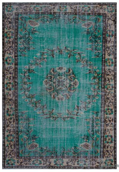 """Turkish Vintage Area Rug - 6' 2"""" x 8' 11"""" (74 in. x 107 in.)"""