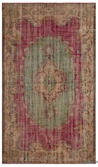 "Turkish Vintage Area Rug - 5'1"" x 8'9"" (61 in. x 105 in.)"