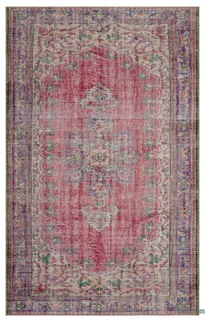 """Turkish Vintage Area Rug - 5' 8"""" x 9' 1"""" (68 in. x 109 in.)"""