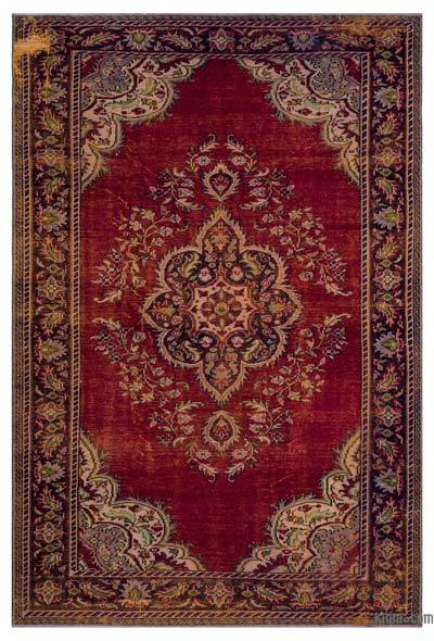 """Turkish Vintage Area Rug - 6' 4"""" x 9' 6"""" (76 in. x 114 in.)"""