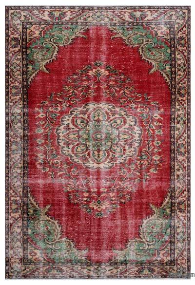 """Turkish Vintage Area Rug - 6'2"""" x 8'11"""" (74 in. x 107 in.)"""