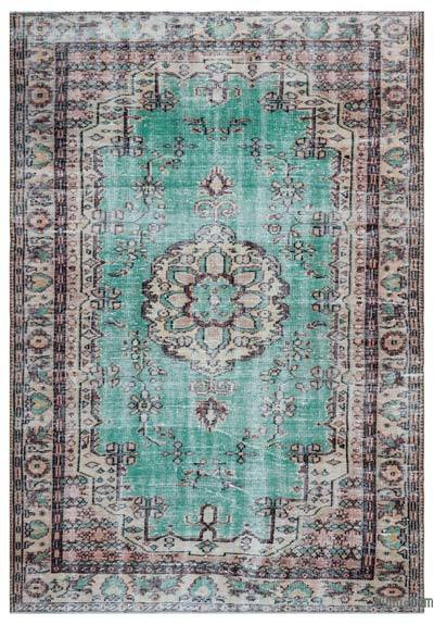 """Turkish Vintage Area Rug - 6'3"""" x 9'3"""" (75 in. x 111 in.)"""