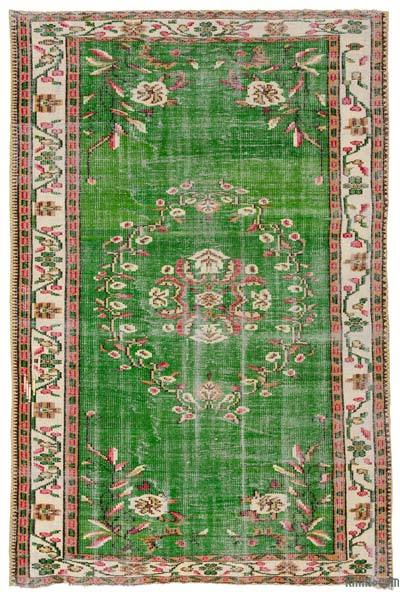 """Turkish Vintage Area Rug - 5'3"""" x 8'1"""" (63 in. x 97 in.)"""