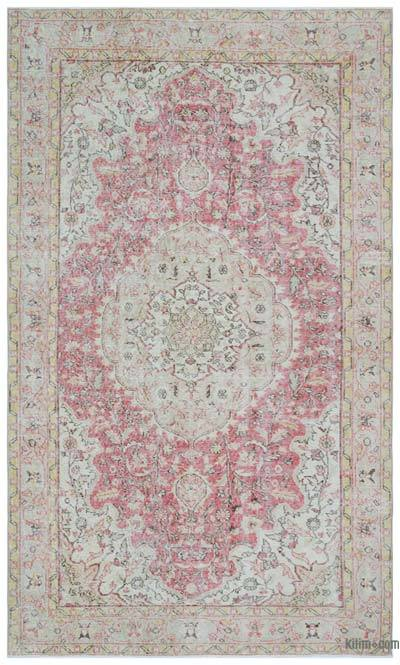 """Turkish Vintage Area Rug - 5'4"""" x 8'10"""" (64 in. x 106 in.)"""