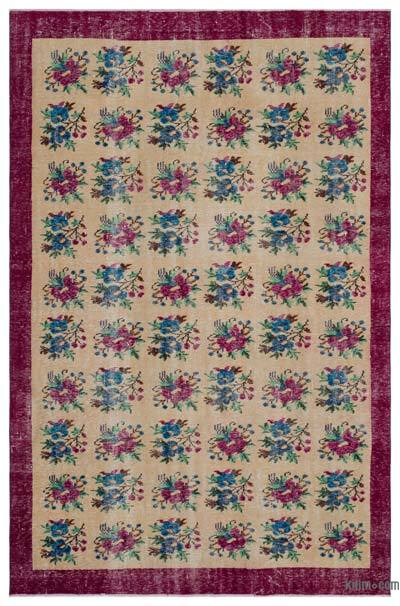 """Turkish Vintage Area Rug - 6'2"""" x 9'5"""" (74 in. x 113 in.)"""