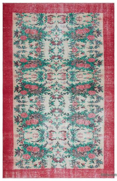 "Turkish Vintage Area Rug - 5' 9"" x 9' 1"" (69 in. x 109 in.)"
